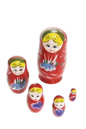 Russian Nesting Dolls on White Background photo