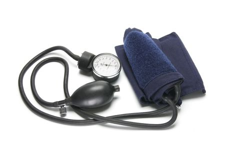 Sphygmomanometer on Isolated White Backgorund photo