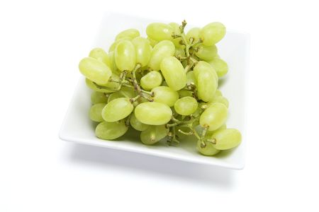 sultana: Sultana Grapes on Isolated White Background