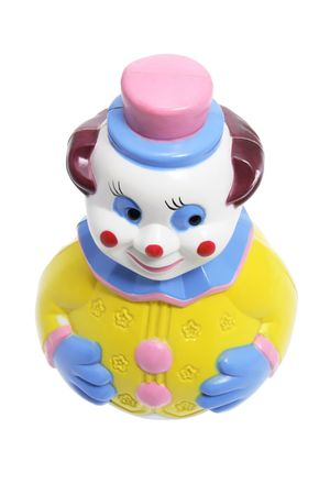 Roly Poly Toy Clown on White Background photo