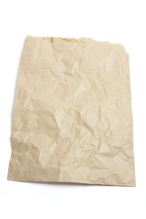 paperbag:  Brown Paper Bag on White Background