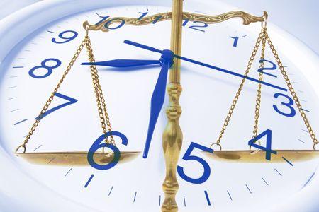 puntualidad: Compuesto de reloj y Lat�n Escala