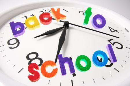 Composite of Back to School and Clock photo