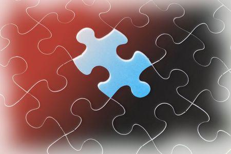 gradual: Hasta cerca de Jigsaw Puzzle gradual de Antecedentes Foto de archivo