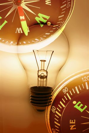 Composite of Light Bulb and Compass photo