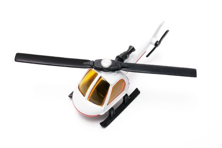 Miniature Helicopter on Isolated White Background photo