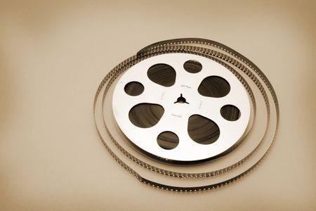 Film Reel on Seamless Warm Background photo