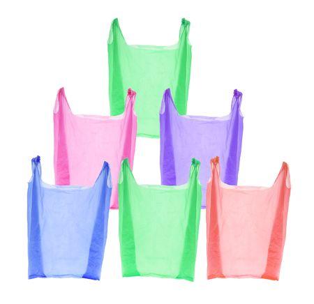 isol� sur fond blanc: Plastic Shopping Bags isol�s sur fond blanc