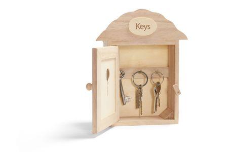 House Shape Key Box on White Background Stock Photo - 4954833