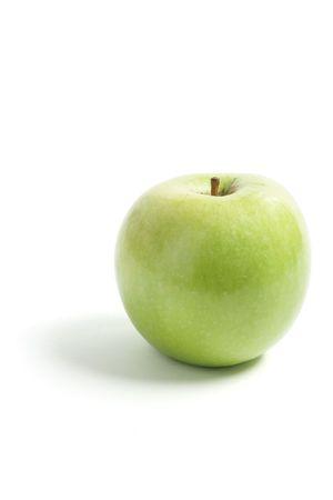 granny smith apple: Granny Smith Apple on Isolated White Background