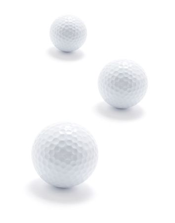 golf balls: Golf Balls on Isolated White Background