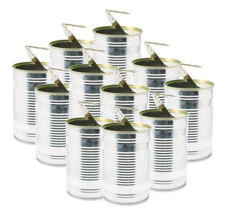 tin cans: Ringpull blikjes op witte achtergrond