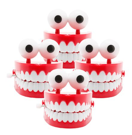 Chattering Teeth on White Background Stock Photo - 5003510