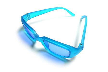 sunnies: Plastic Sunglasses on Isolated White Background Stock Photo