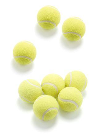 Tennis Balls on White Background Stock Photo - 5032432