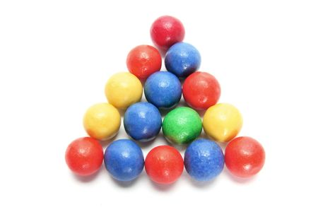 gumballs: Arrangement of Gumballs on Isolated White Backgorund