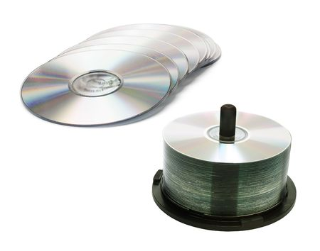 CD Spindle on white Background photo