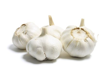 breadth: Garlic on Isolated White Background