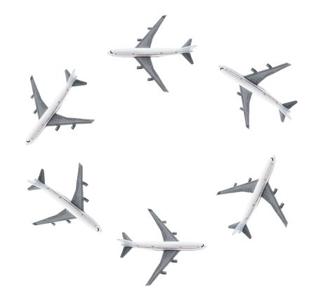 modes: Plane Modes on Isolated White Background Stock Photo