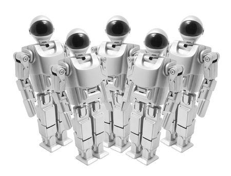 Toy Robots on White Background Stock Photo - 5240683