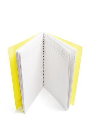 note book: Nota il libro su sfondo bianco isolata