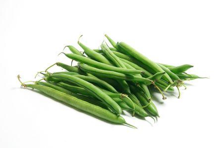 green beans: Jud�as verdes en Isolado Fondo blanco