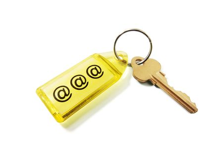 Key Ring with Internet Symbol Stock Photo - 5376913