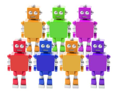 Toy Robot on Isolated White Background Stock Photo - 5388242