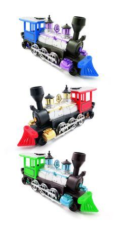modes: Miniature Train Modes on Isolated White Background