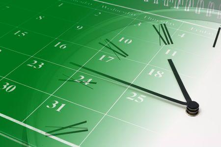 puntualidad: Compuesto de reloj y calendario