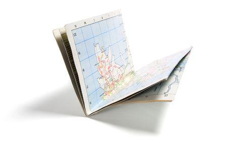 Street Map on Isolated White Background Stock Photo