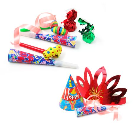 Party Favors on Isolated White Background photo