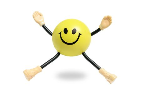 Smiley Toy on White Background photo