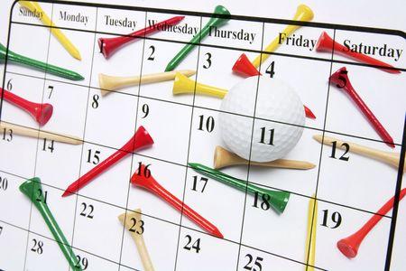 composite: Compuesto de Calendario y tees de golf