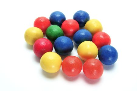 gumballs: Gumballs on Isolated White Background