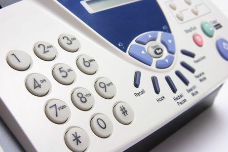 Close Up of Fax Machine photo