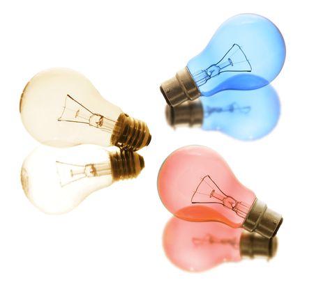 light bulbs: Bombillas sobre fondo blanco Foto de archivo