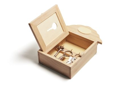 Key Box on Isolated White Background Stock Photo - 5607581