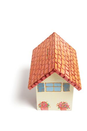 money box: House Money Box on White Background