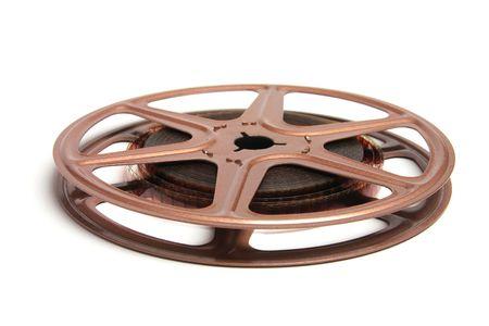 movie film reel: Movie Film Reel sobre fondo blanco