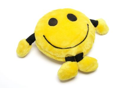 soft toy: Smiley Soft Toy on White Background