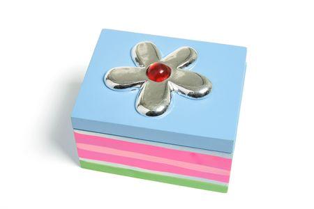 Gift Box on Isolated White Background photo