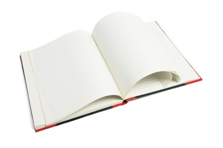 note book: Open Note Book on White Background