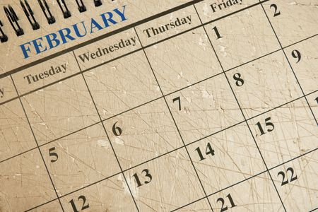 Calendar with Brown Textured Background  photo
