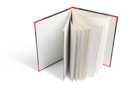 note book: Libro della nota duro su sfondo bianco