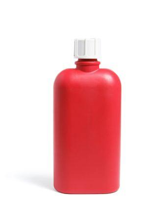 tupperware: Plastic Drink Bottle on White Background Stock Photo
