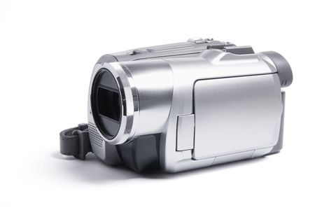 Video Camera on Isolated White Background Stock Photo - 5990867