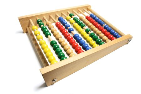 Toy Abacus on Isolated White Background photo