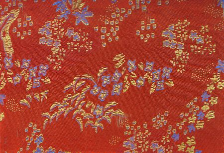 Close Up of Chinese Textile Background photo