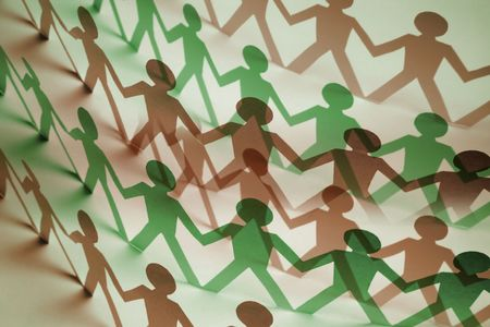 Paper Dolls in Warm and Green Tones photo